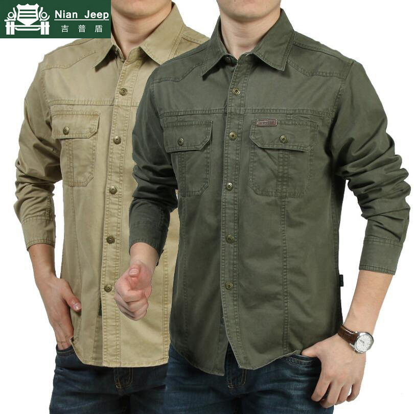 2020 Summer Casual Shirt Men Plus Size M-6XL Military Shirt Male Long Sleeve High Quality 100% Cotton Camisa Social Masculina