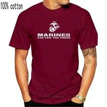 Camisas a los Marines La orgulloso USMC Cuerpo de Marines camiseta negro EE. UU. Con licencia hombres y diseño de cuello redondo de manga corta T camisas