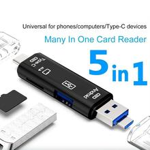 Type-c 5-in-1 OTG Card Reader Card Reader Memory Card Adapter For PC Laptop Accessories Multi Smart Cardreader Card Reader