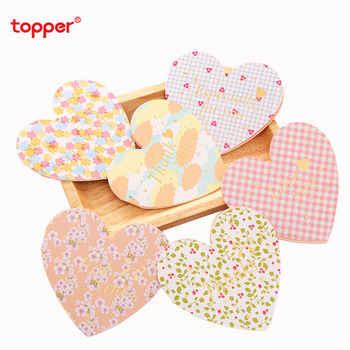 10pcs/set creative greeting card blessing language cardheart-shaped folding message card birthday gift business card  new gifts creative new style blessing xuyuan heart shape small card message birthday gift diy heart shaped