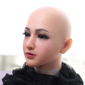 Image 4 - Dokier Realistic Silicone full head face props Female Masquerade Halloween Cosplay Drag Queen Crossdresser Cover Facial Scars