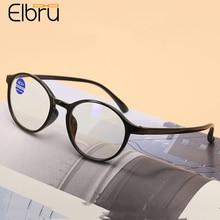 Presbyopic Glasses Anti-Blue light Ultralight Round Diopters Women TR90 Elbru Unisex