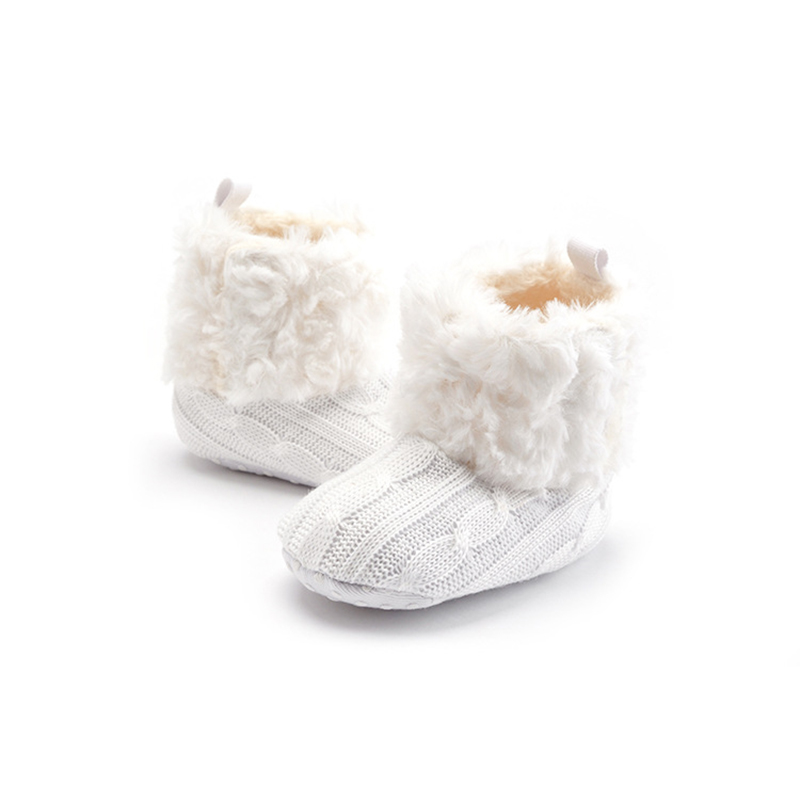 Winter Outdoor Baby Shoes Boots Booties Plush Boots Soft Soled Footwear For Baby Girl Boy Anti-silp Prewalker Babies