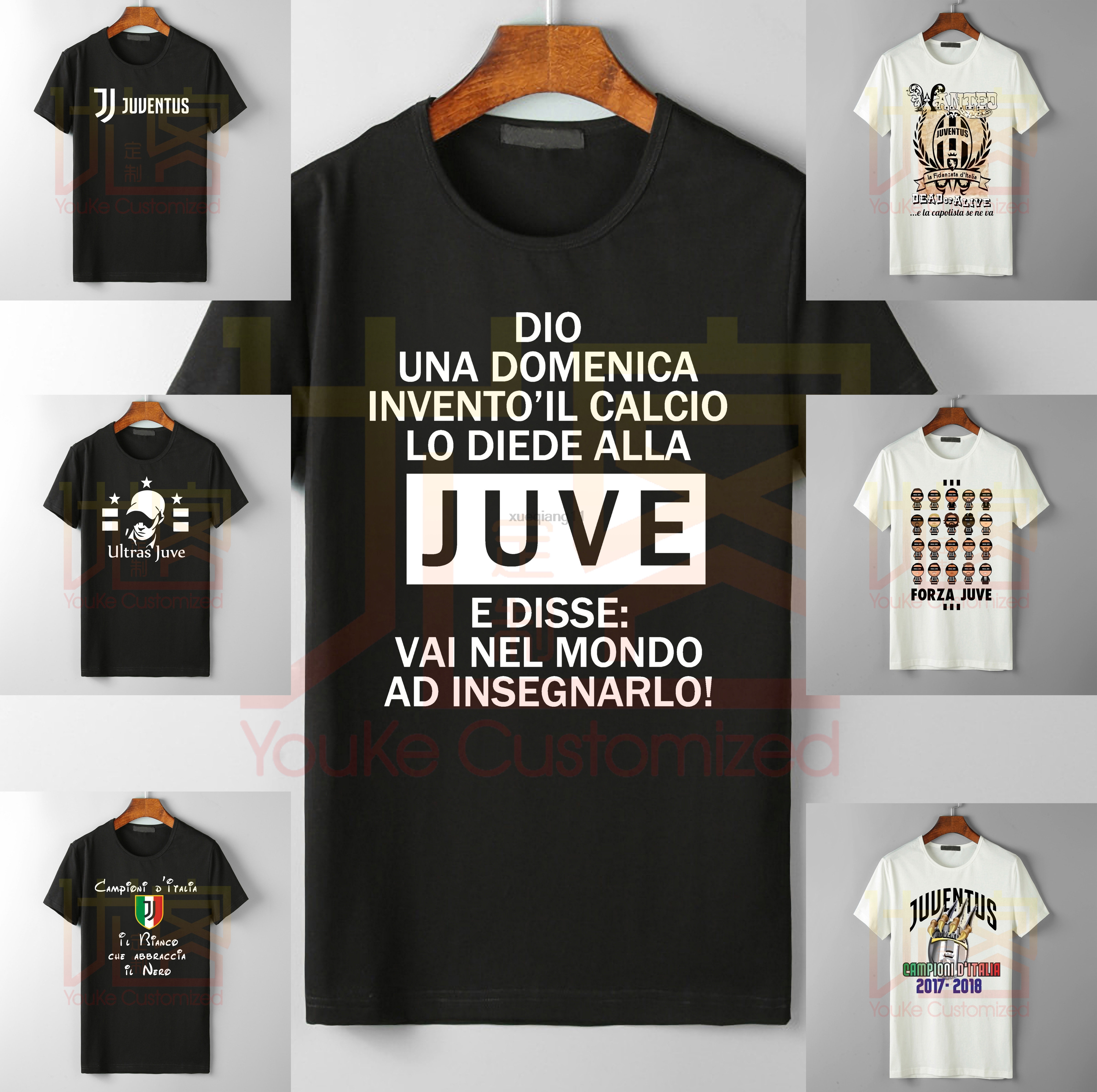 Men's Juve T-SHIR DIEU UNE DOMENICA INVENTO LA FOOTBALL JUVE Classic Collection Men's Brand High Quality Best-selling T-shirt