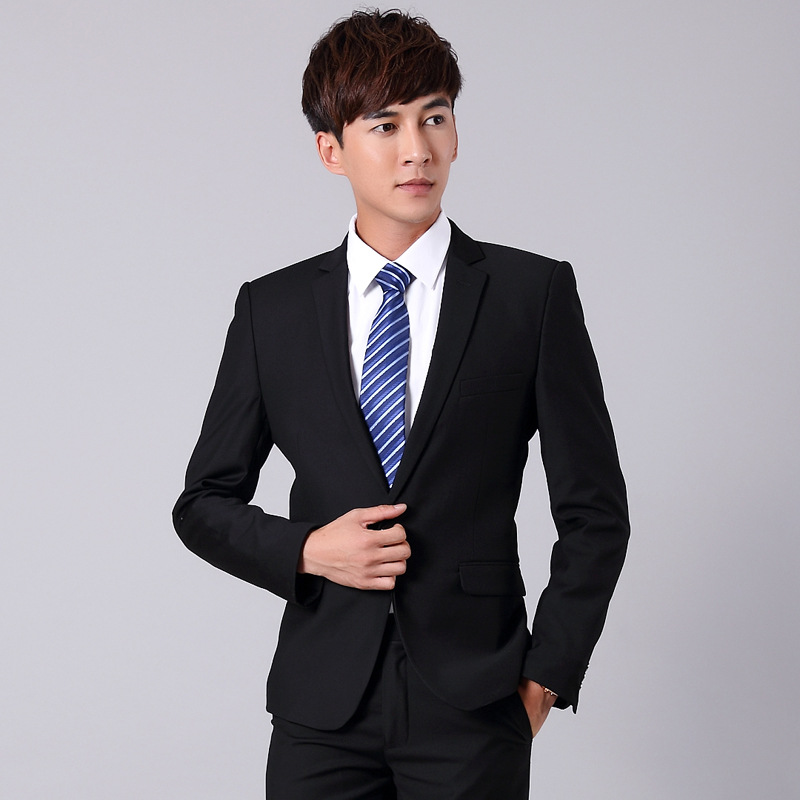 Wear Top Grade Men Business Formal Wear Suit Set 4S Shop Hotel Manager Work Clothes
