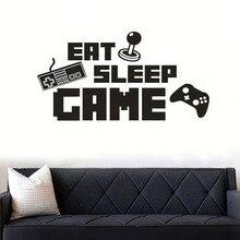 """AF2506SMT Лидер продаж игра pvc консоли """","""" Eat Sleep игры стены Стикеры s Спальня жизни декоративная наклейка для комнаты по индивидуальному заказу"""