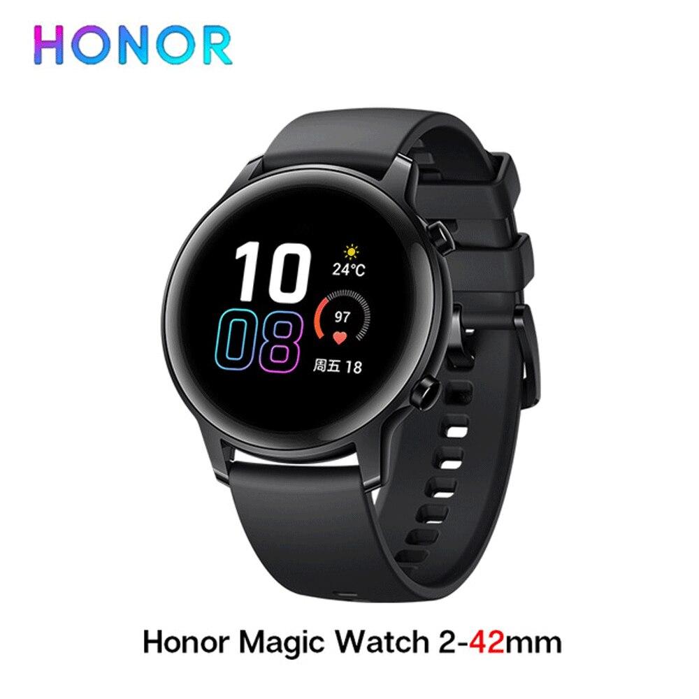 Em estoque Huawei Honra Relógio Mágico 2 Relógio Inteligente GPS Bluetoot 46mm pagamentos NFC reprodução de música Indie de Trabalho 14 mensagem dias
