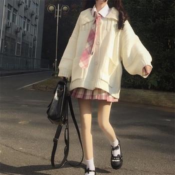 Solid Women Casual Jumper Autumn Korean Version Girls Lady Sweater Tops Femme Loose Females Sweater Coat Cute Kawaii fashion 2