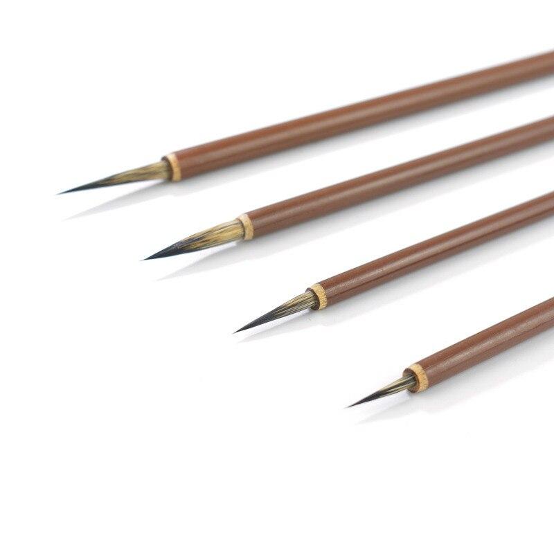 8PCS Chinese Painting Brush Set Stone Badger Hair Chinese Calligraphy Brush Hook Line Fine Oil Acrylic Watercolor Painting Brush