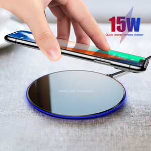 Image 5 - iONCT 15W qi Wireless Charger pad for iPhone X XR XS Max 8 fast wirless Charging for Samsung Huawei phone Qi charger wireless
