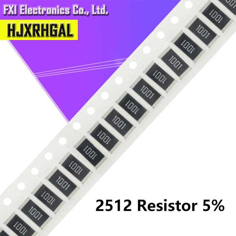 50Pcs 2512 SMD Chip Fixed  5% 1W 0.1R 0.01R 0.05R 0.001R 0.33R 1R 0R 10R 100R 2W 0.001 0.01 0.1 0.33 0.05 1 0 10 100 Ohm