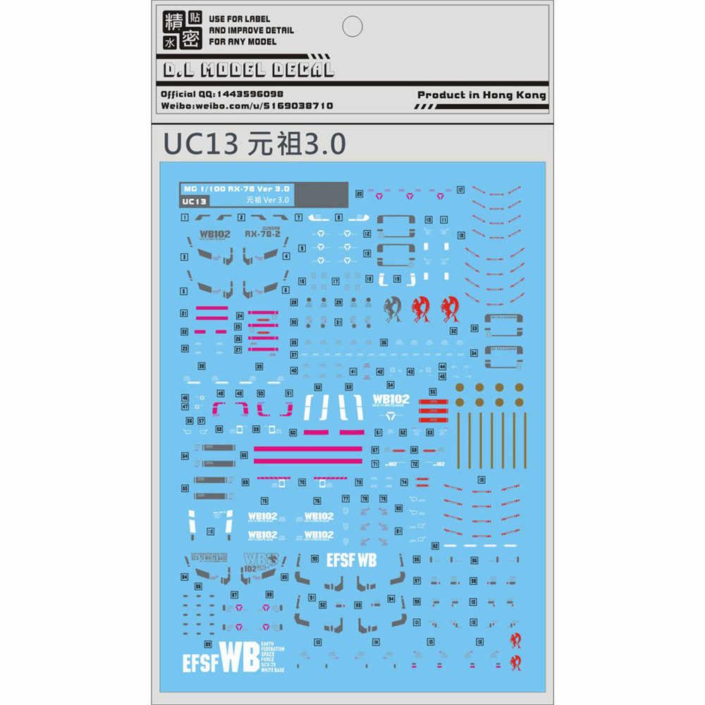 עבור UC13 מים מדבקת עבור BANDAI MG 1/100 RX 78 2.0 Gundam VER 3.0 מודל Gunpla מדבקות