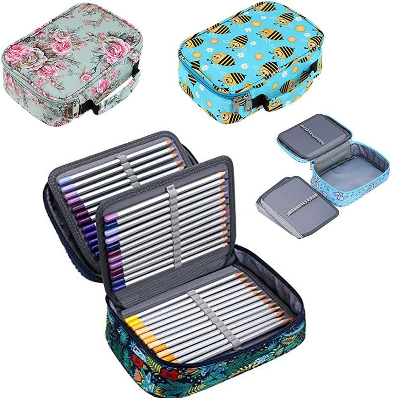 72 Holes School Pencil Case For Girls Boys Pencilcase Large Cartridge Penal Big Pencase Pen Box Stationery Storage Bag Supplies