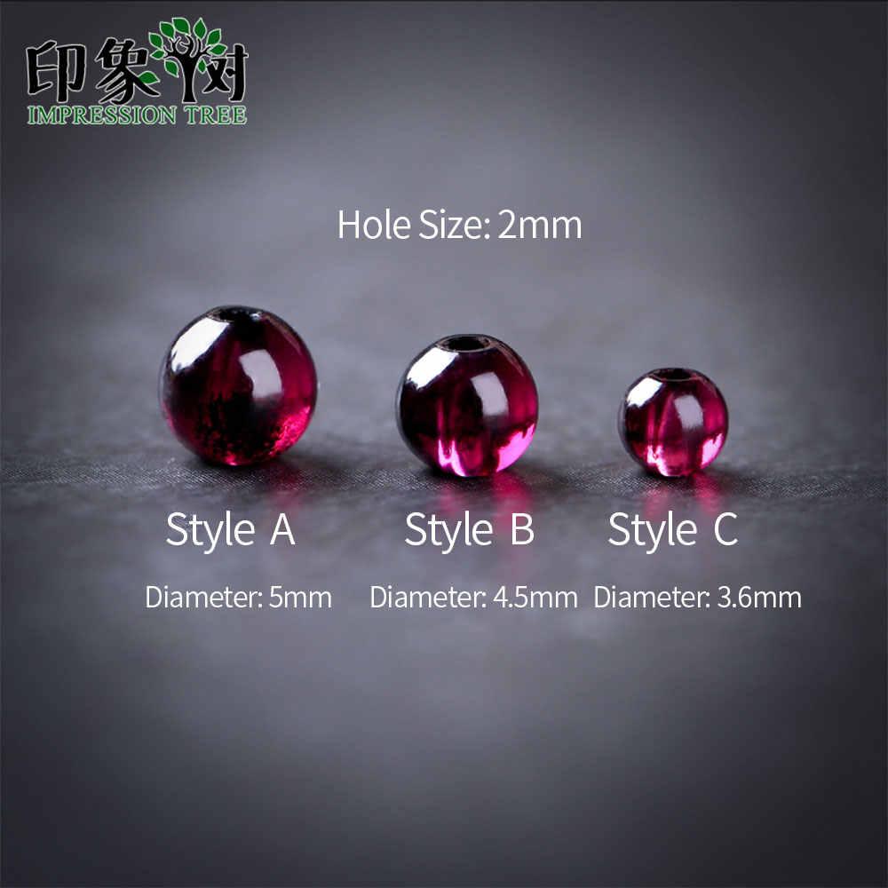 1pcs טבעי סגול Almandine גרנט חרוז עגול 3.6/4.5/5mm גדיל AAAA גארנט אבן חרוז DIY עבור תכשיטי ביצוע 22018