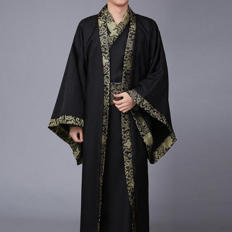 New Chinese Ancient Costume Male Hanfu Men's Cosplay Costume Courtiers Officials Ministers Of Han Dynasty Scholar Clothing Robe