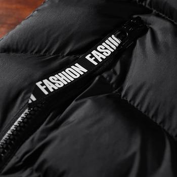 Fashion Mens Jacket Sleeveless Vest Spring Thermal Soft Vests Casual Coats Male Cotton Men's Vest Men Thicken Waistcoat 8XL 5