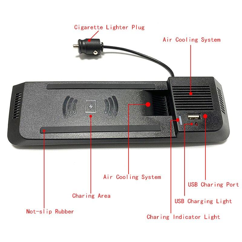 Dla Audi A4 B8 B9 Allroad A5 S5 RS5 samochodów QI bezprzewodowa ładowarka do telefonu ładowania płyta uchwyt telefonu akcesoria dla iPhone 8