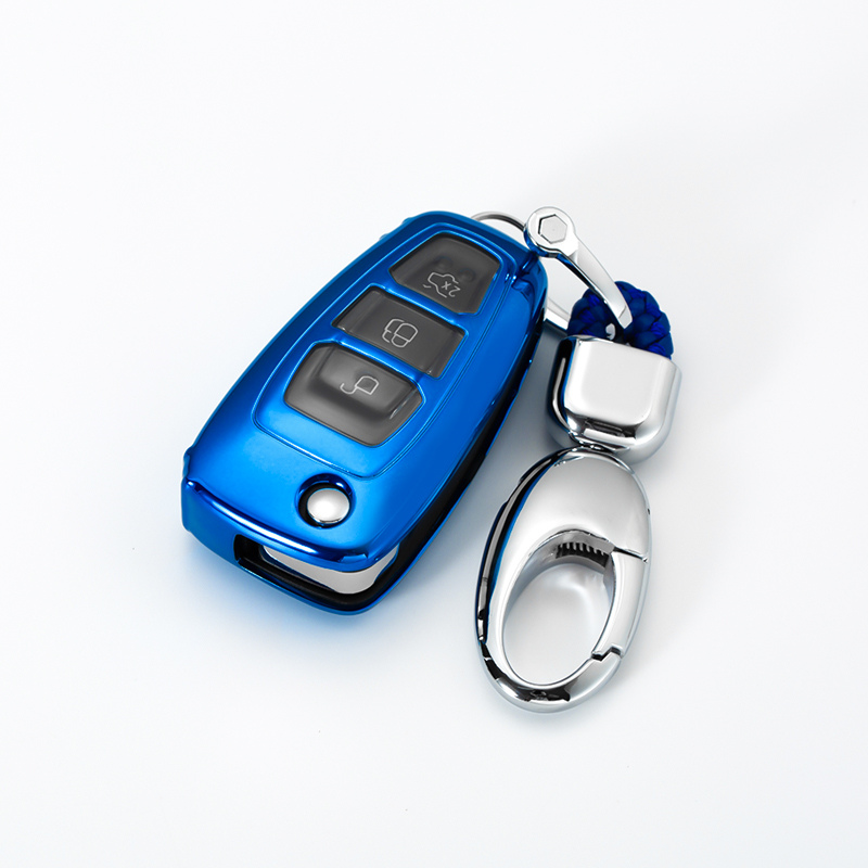 Key-Case Escape Auto-Key Ecosport Fiesta Ford Focus Waterproof Shell-Chain 3-Button TPU title=