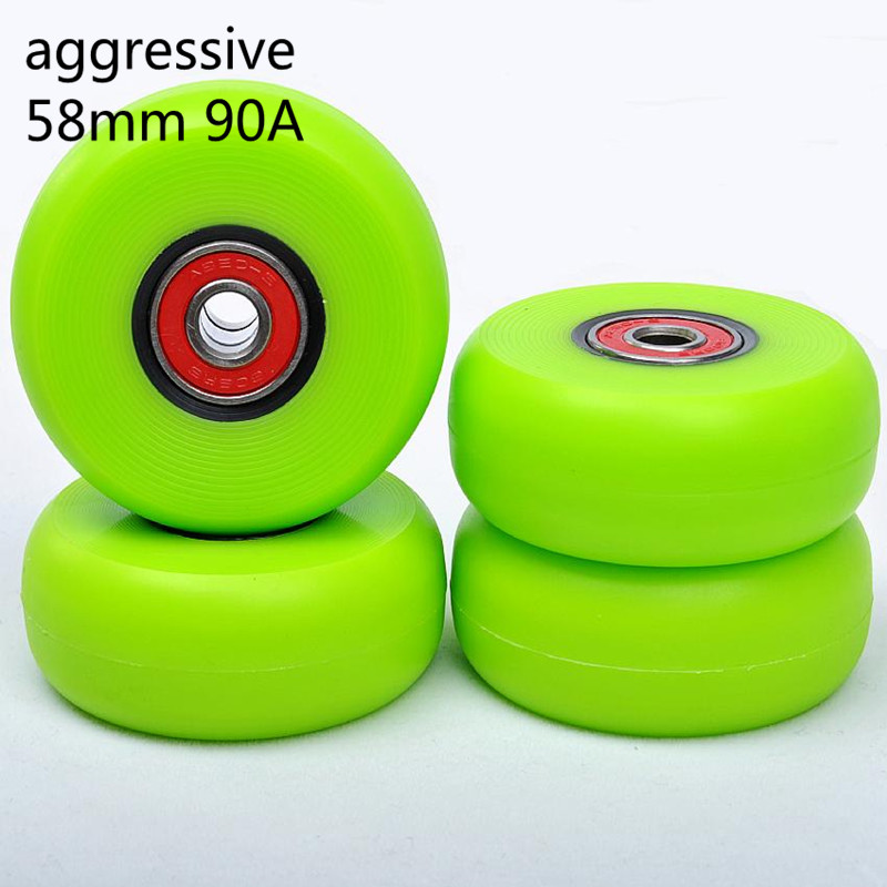 Agreessive Skating Wheel 58mm 90A Drift Sliding Inline Skates Rodas Slide Roller Skating Tyre 58 Shift Show For SEBA ABEC-9 8pcs