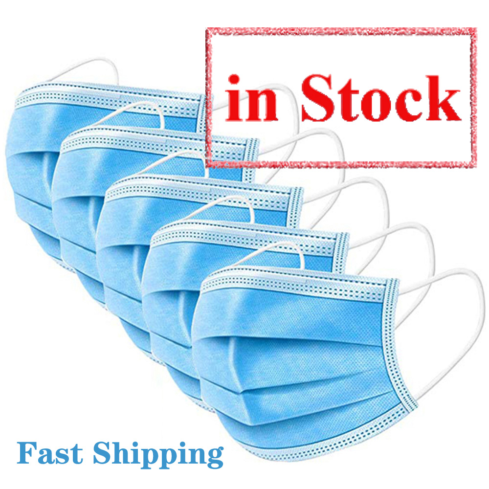 Face-Mouth-Masks Ear-loop 3-ply  Facemask Disposable  Nonwoven Protective Face Masks