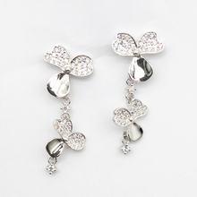 Новое Женское Ожерелье из стерлингового серебра s925 пробы инкрустированное