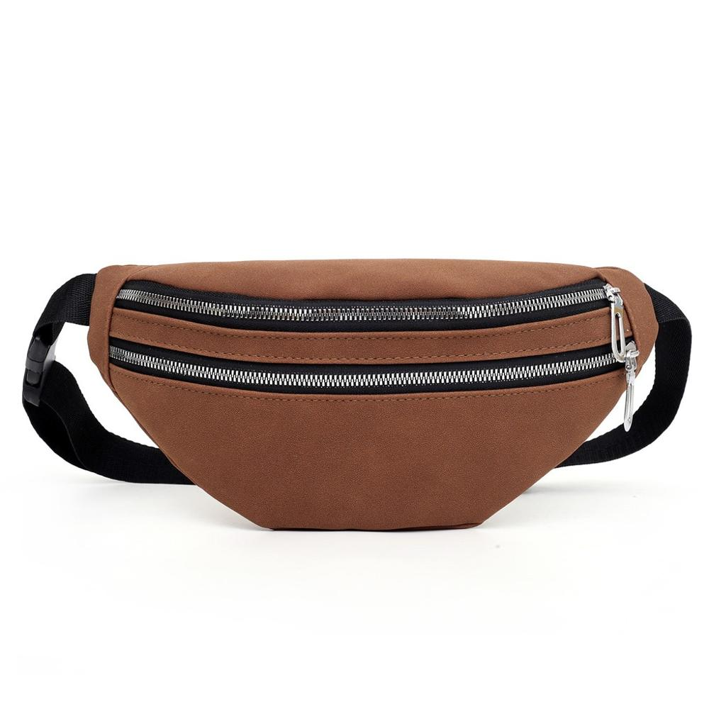 Women Waist Bag Messenger Phone Shoulder Bag Fashion Suede Solid Color Stylish Wild Casual Personality Multifunctional H1