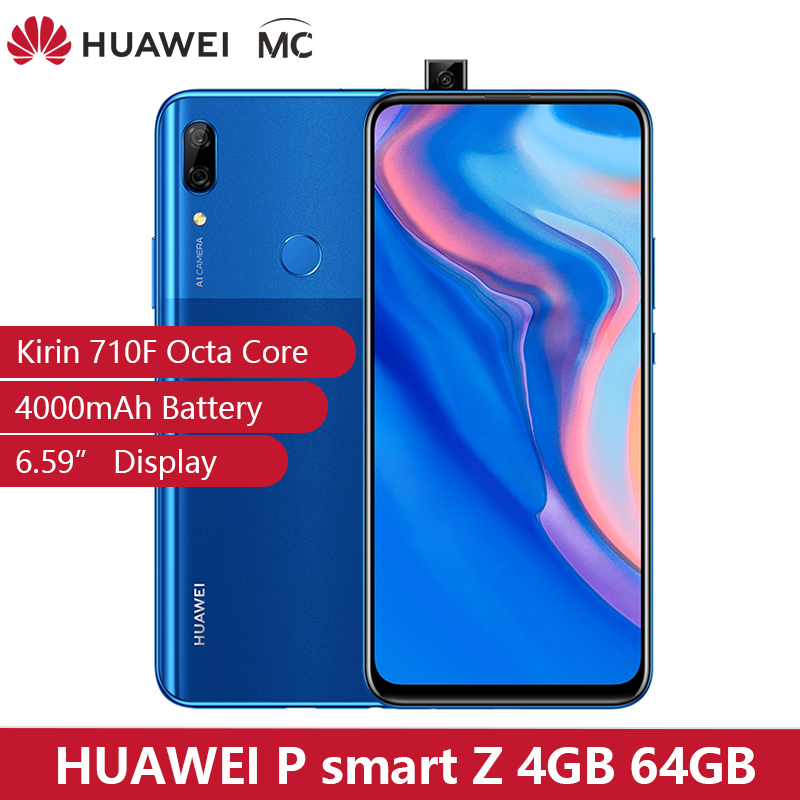 In Stock Global Version Huawei P Smart Z 4GB 64GB Kirin 710F Octa Core Smartphone Auto Pop Up Front Camera 6.59'' Cellphone