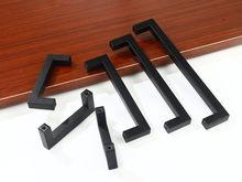 3-15 pollici maniglie per mobili nere armadio quadrato in acciaio inossidabile cassetto armadio tira manopole per porte del bagno maniglia per mobili da cucina