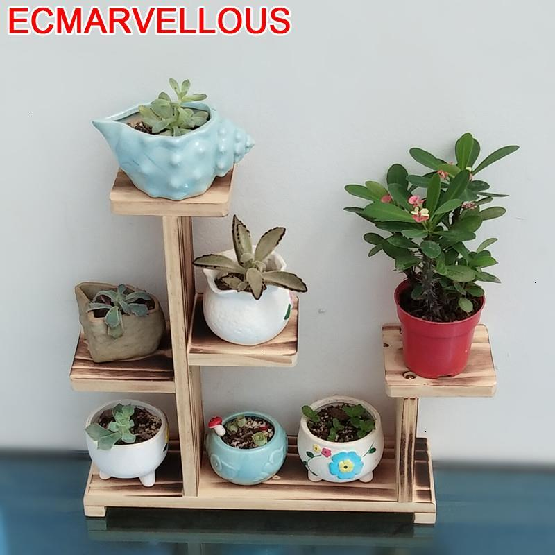 Soporte Interior Macetas Estanteria Para Plantas Wooden Shelves For Balcony Shelf Stojak Na Kwiaty Outdoor Flower Plant Stand