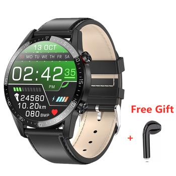 L13 + słuchawki zestaw inteligentny zegarek mężczyźni ekg + PPG tętno IP68 wodoodporny zegarek Bluetooth Smartwatch dla Huawei Xiaomi Samsung zegarek tanie i dobre opinie DEHWSG CN (pochodzenie) Brak Na nadgarstku Wszystko kompatybilny 128 MB Passometer Fitness tracker Uśpienia tracker