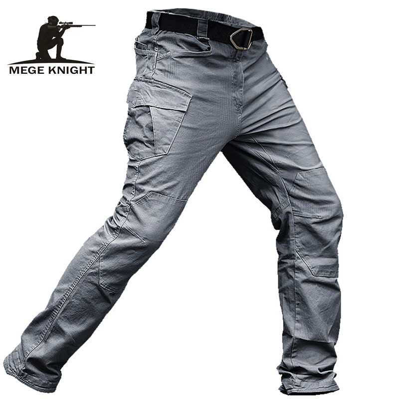 MEGE Tactical Pants Men Military Clothing Cargo Pants Army Casual Style Combat Trousers Cotton Stretch Multi pocket Dropshipping