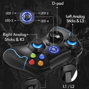 Image 3 - EasySMX 2 adet ESM 9013 kablosuz Gamepad Joystick oyun denetleyicisi ile titreşim Joystick PC için PS3 Android TV kutusu telefon oyuncular