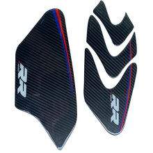 Carbon Fiber motorcycle Sticker Decal Emblem Protection Fuel tank side decal For BMW  S1000 RR HP4