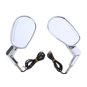 Motorcycle Rearview Mirrors LED Turn Signals Light for Harley VRSCF 2009-2017