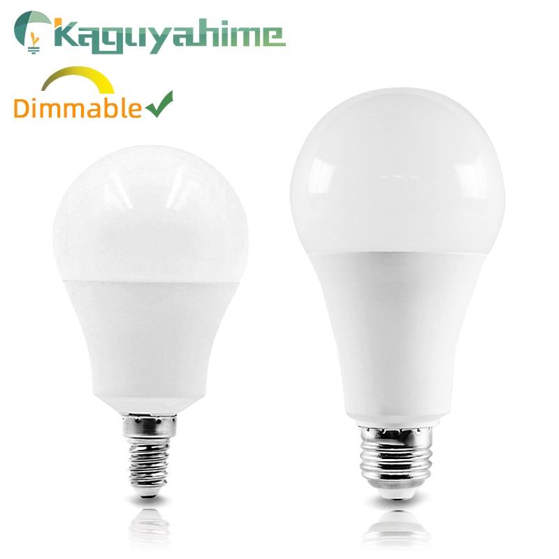 Kaguyahime Dimmable LED Bulb Lamp E27 E14 220V Light Bulb Smart IC 3W 5W 6W 9W 12W 15W 20W Lampada Bombilla Lampara Ampoule LED