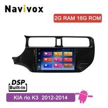 Navivox 9inch Android 8.1 Car Multimedia DVD Player For Kia RIO K3 2011 2012 2013 2014 CAR Radio GPS navigation autoradio Stereo