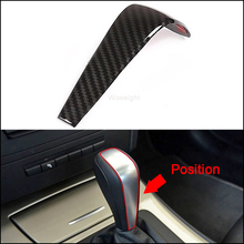 цена на Wooeight Car Styling Interior Carbon Fiber Gear Shift Cover Sticker Fit For BMW 3 Series E90 2005-2007 2008 2009 2010 2011 2012