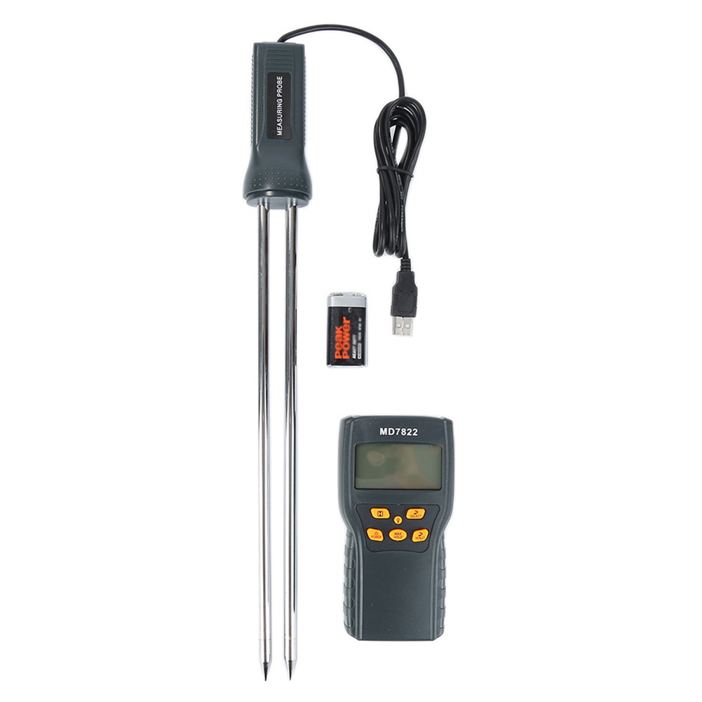 Aletler'ten Nem Ölçerler'de MD7822 pratik CPU dayanıklı analizörü dijital arka ışık modu tahıl nem test cihazı sıcaklık ölçüm dedektörü lcd ekran title=