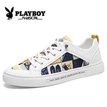 PLAYBOY New Brand Men Sneakers Classic Skateboarding Shoes Lace-up Basket Comfortable Walking Sport Shoes Zapatillas Deportivas