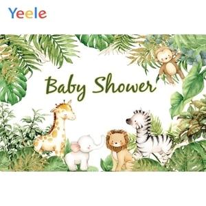 Image 5 - صور خلفيات سفاري حيوانات استوائية لحفلات استحمام الطفل ملصق صور خلفيات فينيل صور للتصوير بالاستوديو للأطفال