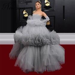 Vestido de fiesta árabe Dubai alto bajo Cuentas Rojas vestido de noche Alta Costura más nuevo vestido de celebridad para bodas vestidos africanos de graduación 2020