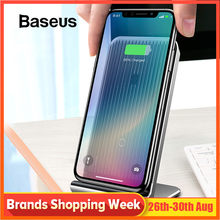 Baseus Intelligent Cooling Wireless Charger Desktop Multifunction Wireless Charging Pad For iPhone X/XS Max XR Samsung Note 9 10(China)