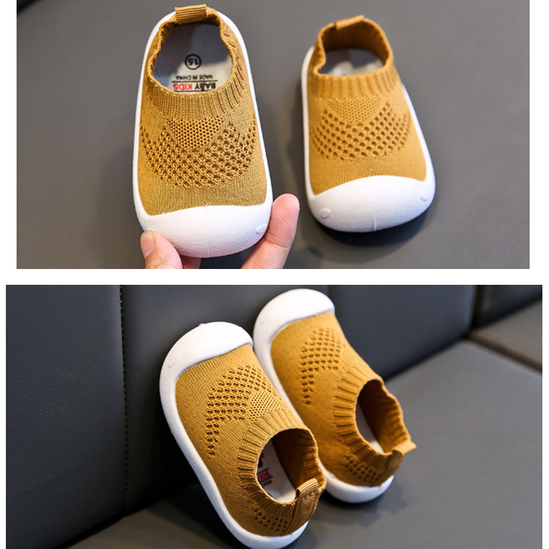 Baby First Walkers Shoes Mesh Casual Pre Walker Breathable Soft Baby Floor Sock Shoe 1Pair Pure Color Infant Toddler Shoes