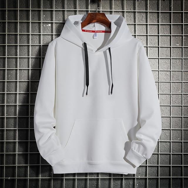 Men Hoodies 5XL 6XL 7XL 8XL Hooded Sweatshirts Men Hood Streetwear Male Black 2020 Spring Autumn Casual Solid Color Long Sleeve 2