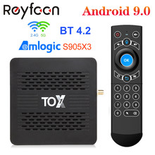 Tox1 android 9.0 smart tv box 4gb 32gb amlogic s905x3 5g duplo wifi 1000m suporte bt 4.2 4k media player dolby atmos áudio tvbox