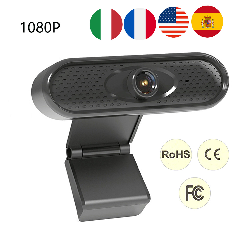 Webcam 1080P Auto Focus Built-in Microphone High-end Video Call Camera Computer Peripherals Web Camera Clip-on For PC Laptop