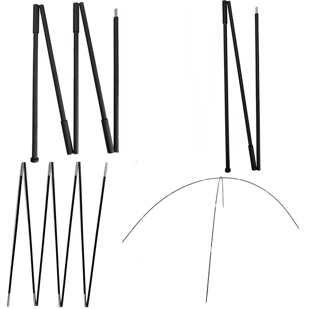 Ultra hafif hafif karbon Fiber 3F Lanshan Asta Zpacks sağlam sert sert çadır direği Tarp direği