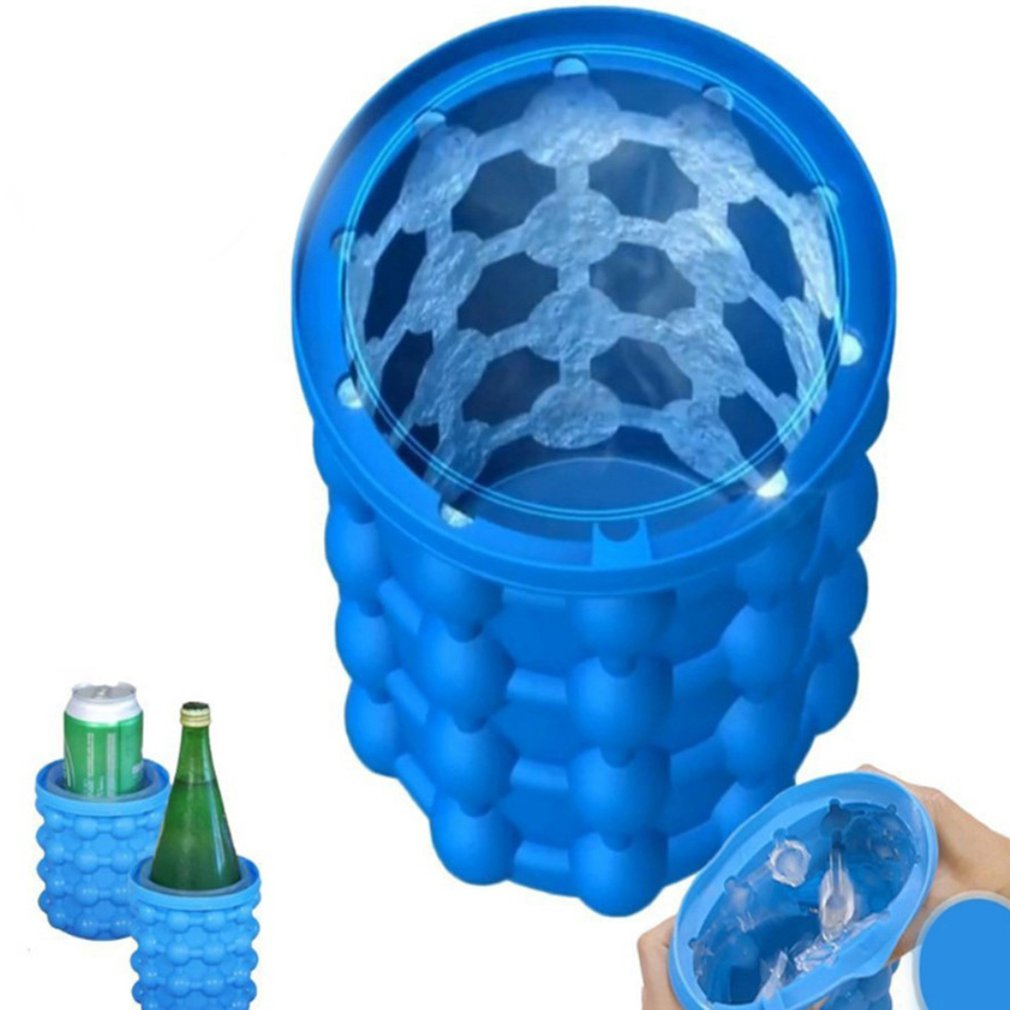 Silicone Ice Maker Fast Cold Ice Bucket Ice Storage Silicone Bucket Dropshipping