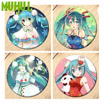 Anime Hatsune Miku Brooch Badges For Clothes Backpack Decoration Pin Jewelry gift B148 free shipping kpop bigbang gd top made brooch pin badges for clothes backpack decoration jewelry b058