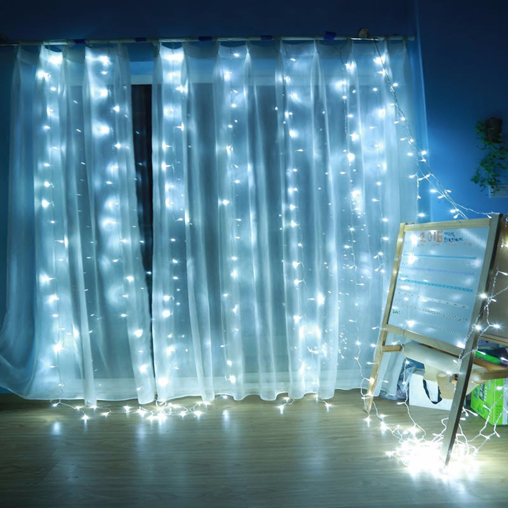 3Mx3M /6Mx3M UK Plug LED String Curtain Lights Waterfall Window Lights Christmas Wedding Party Garland Light Decor D20